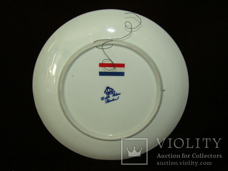 Настенная тарелка клеймо DELFTs Делфт Голландия, фото №6