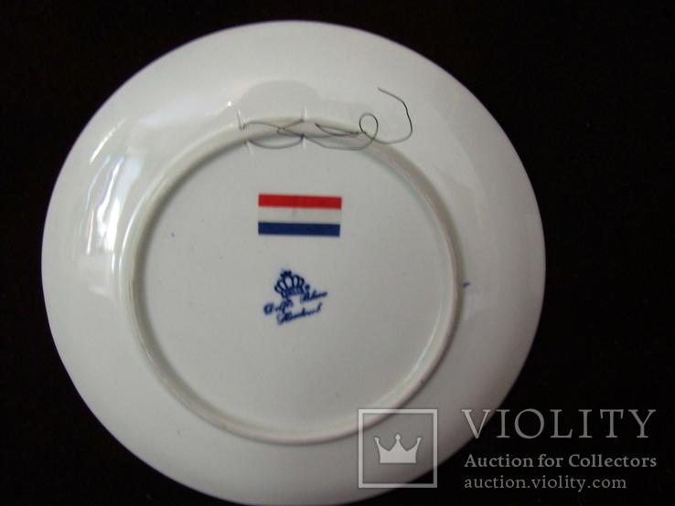 Настенная тарелка клеймо DELFTs Делфт Голландия, фото №7