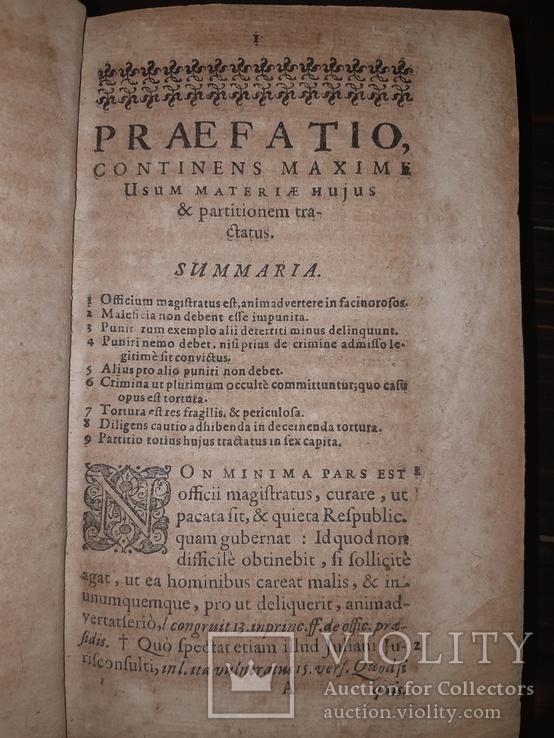 1612 Трактат к вопросу о пытках - Первое издание, фото №4