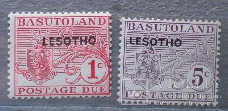 Лесото  доплатные  № 1-2  MNH