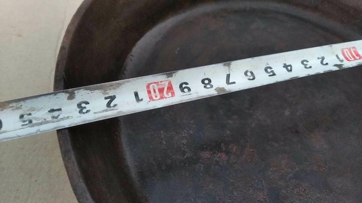 Чугунная сковорода из СССР - 24 см, фото №7
