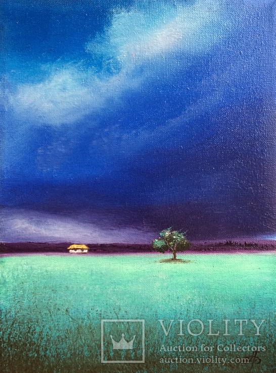 Картина, Вечір, 15х20 см. Живопис на полотні, фото №5