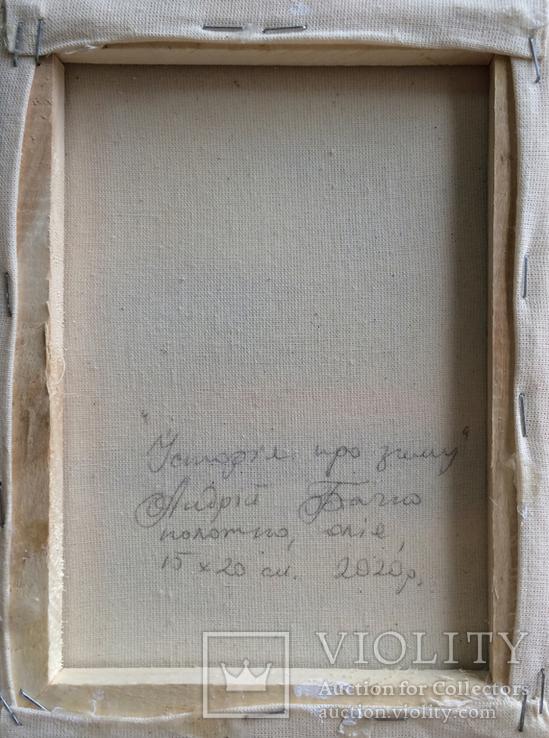 Картина, Історія про зиму, 15х20 см. Живопис на полотні, фото №4