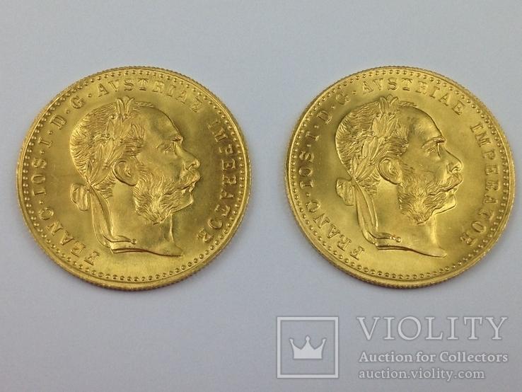 1 дукат 1915г. золото, Австро-Венгрия 2 шт.