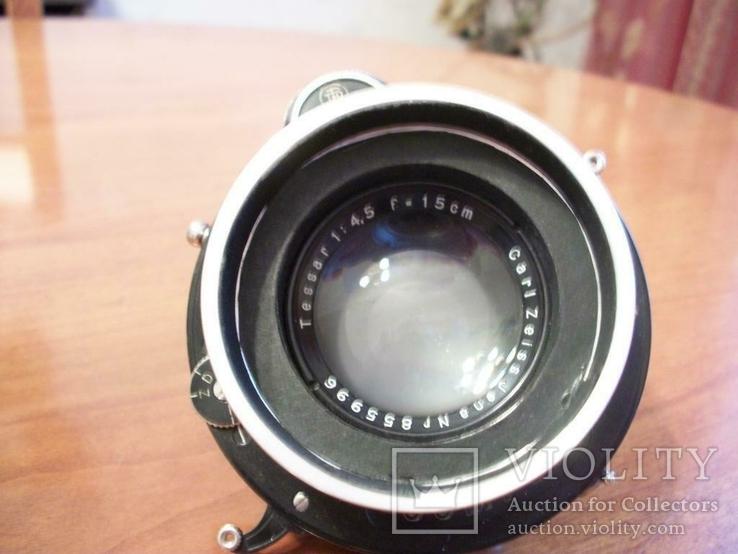 Объектив tessar 1:4,5 , f=15-cm, для камеры с центральным затвором, фото №5