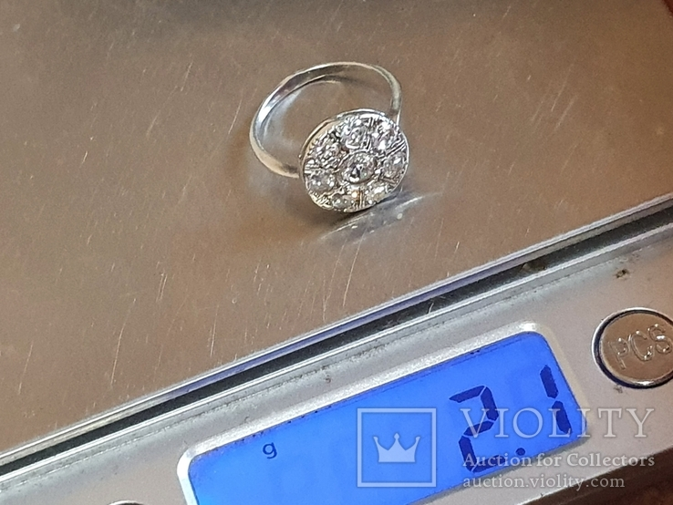 Колечко серебро 925 проба. Размер 16, фото №6