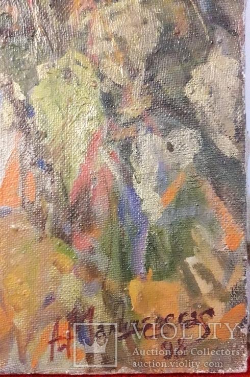 "А.Малишевская ""Автопортрет"", х.м., 1998., фото №3"