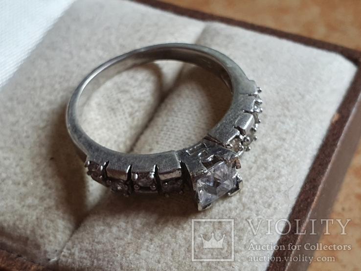 Современное кольцо. Серебро 925 проба. Размер 18.5, фото №4