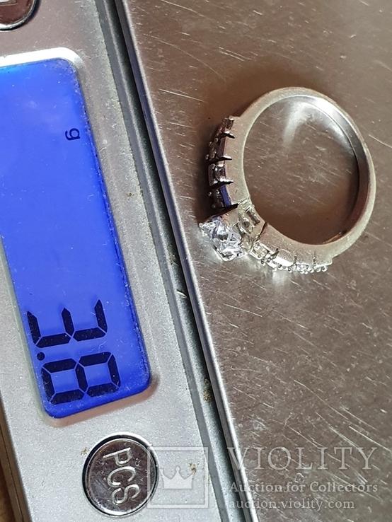 Современное кольцо. Серебро 925 проба. Размер 18.5, фото №6