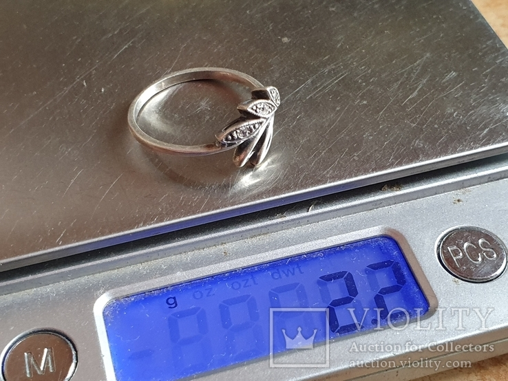 Современное кольцо. Серебро 925 проба. Размер 19, фото №8