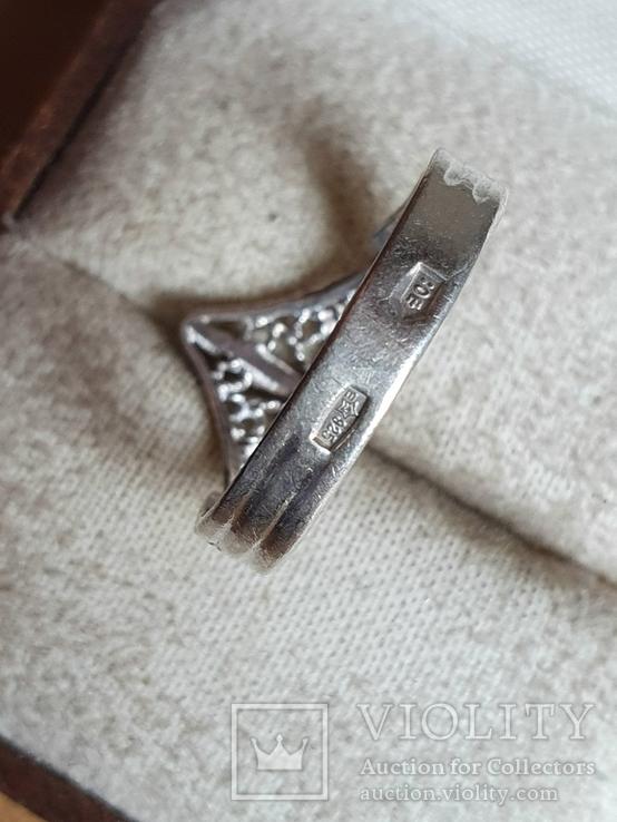 Советское колечко серебро 875 проба. Размер 17, фото №5