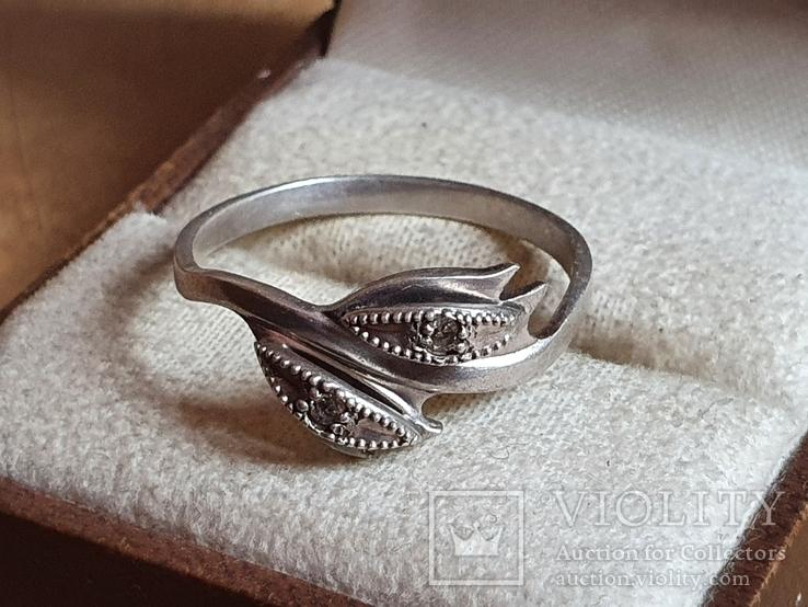 Колечко серебро 925 проба. Размер 20, фото №4