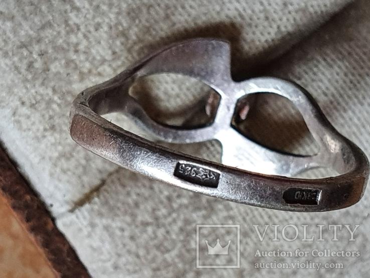Советское колечко серебро 925 проба. Размер 17.5, фото №6