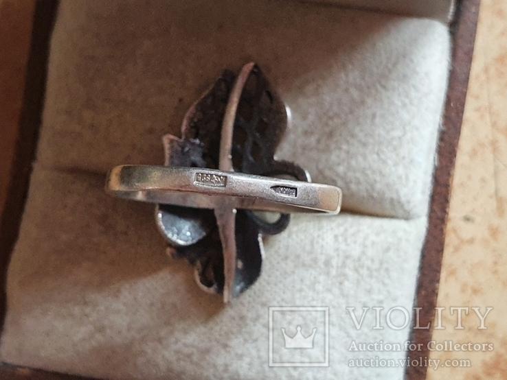 Советское колечко серебро 925 проба. Размер 18.5, фото №6
