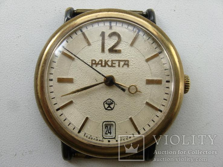 Часы Ракета позолота . Рабочие, фото №2