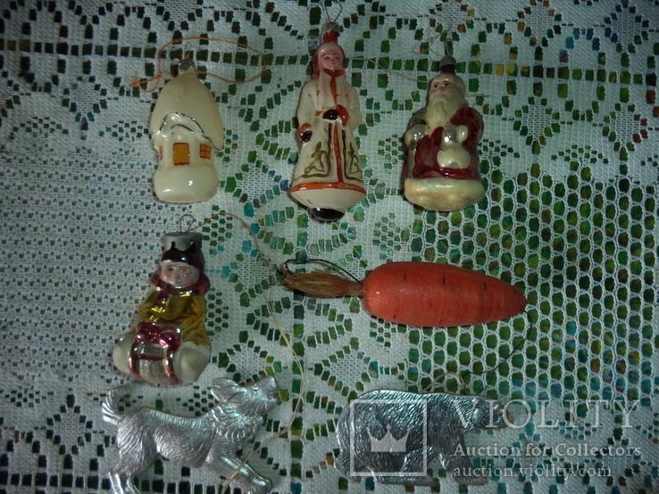 Ёлочные игрушки  СССР 7 штук, фото №2