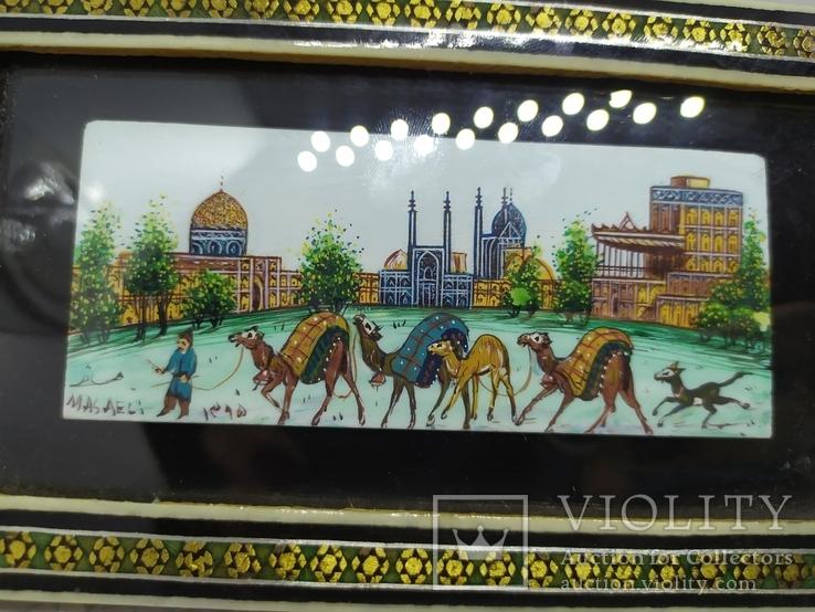Декоративная работа. Восточная страна и верблюды. Ручная роспись, фото №4