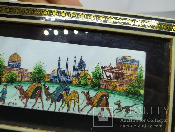 Декоративная работа. Восточная страна и верблюды. Ручная роспись, фото №6