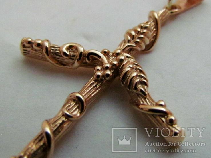 Грузинский Крест Святой Нино Золото 585 проба 7.82 грамма, фото №4
