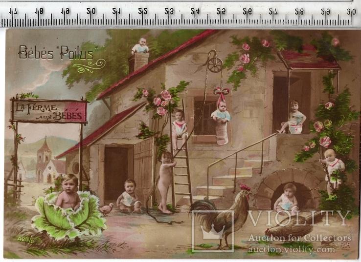 Старинная открытка. До 1945 годa. Дети. и.(2), фото №2