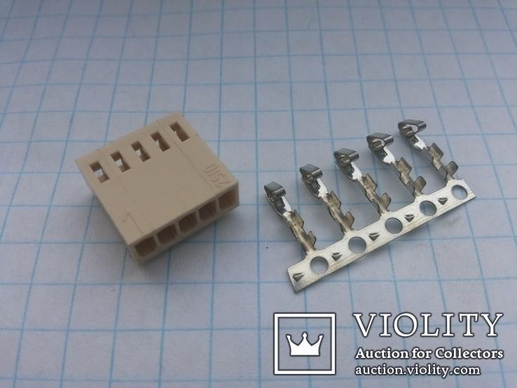 Разъем сигнальный HU-5 шаг 2,54 мама на кабель 150 шт, фото №2
