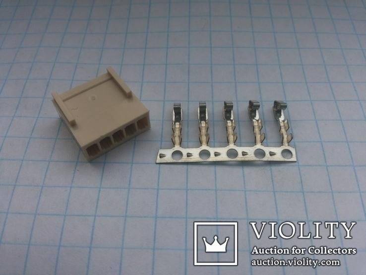 Разъем сигнальный HU-5 шаг 2,54 мама на кабель 150 шт, фото №3