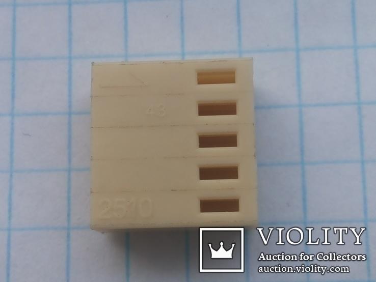 Разъем сигнальный HU-5 шаг 2,54 мама на кабель 150 шт, фото №4