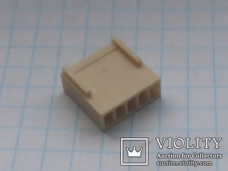 Разъем сигнальный HU-5 шаг 2,54 мама на кабель 150 шт, фото №6