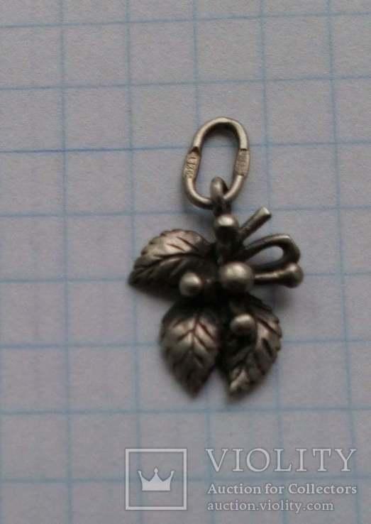 Кулон серебренный 925 проба  тризуб, фото №2