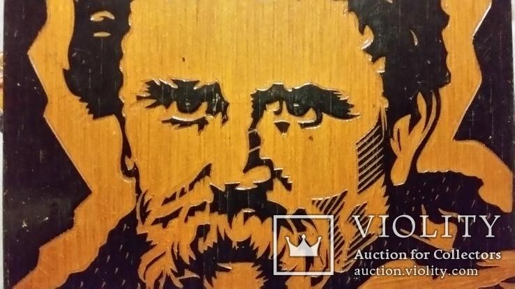 Гравюра на дереві, портрет Т.Г.Шевченко Н30х21 см, фото №4
