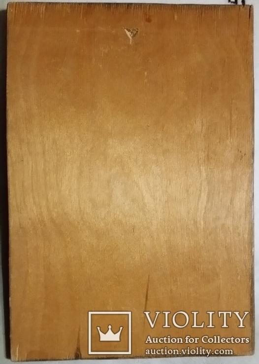 Гравюра на дереві, портрет Т.Г.Шевченко Н30х21 см, фото №6