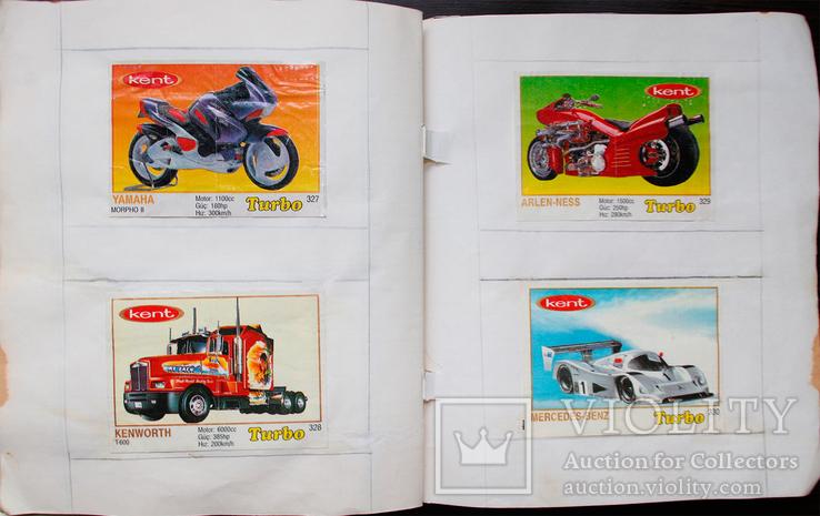 4 полных коллекции вкладышей Турбо (Turbo) с 51 по 330., фото №6