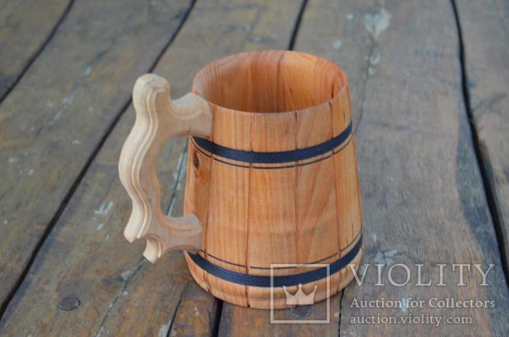Деревянные кружки Деревянная пивная кружка объемом 0,7 мм., фото №10
