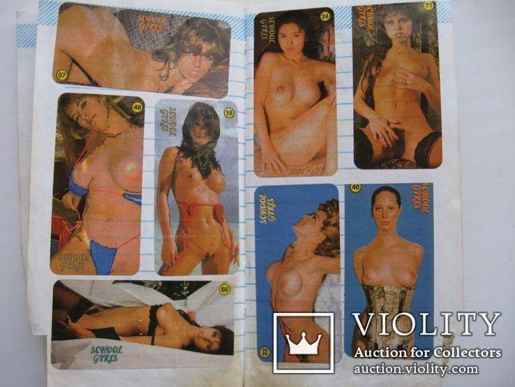 Вкладыши наклейки девушки 70 шт+бонус, фото №6