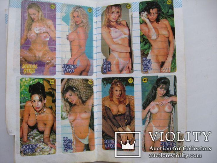 Вкладыши наклейки девушки 70 шт+бонус, фото №8