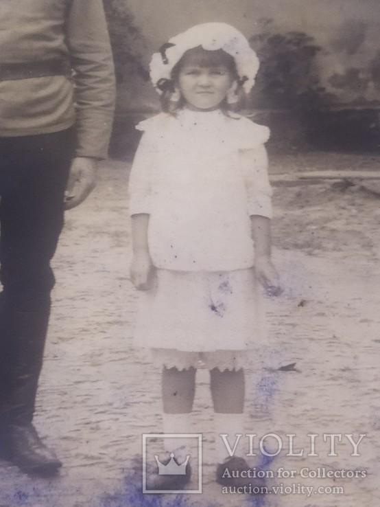 Офицер и солдат Первой Мировой с семьей старое фото, фото №10