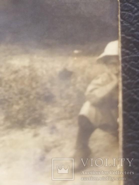 Офицер и солдат Первой Мировой с семьей старое фото, фото №11
