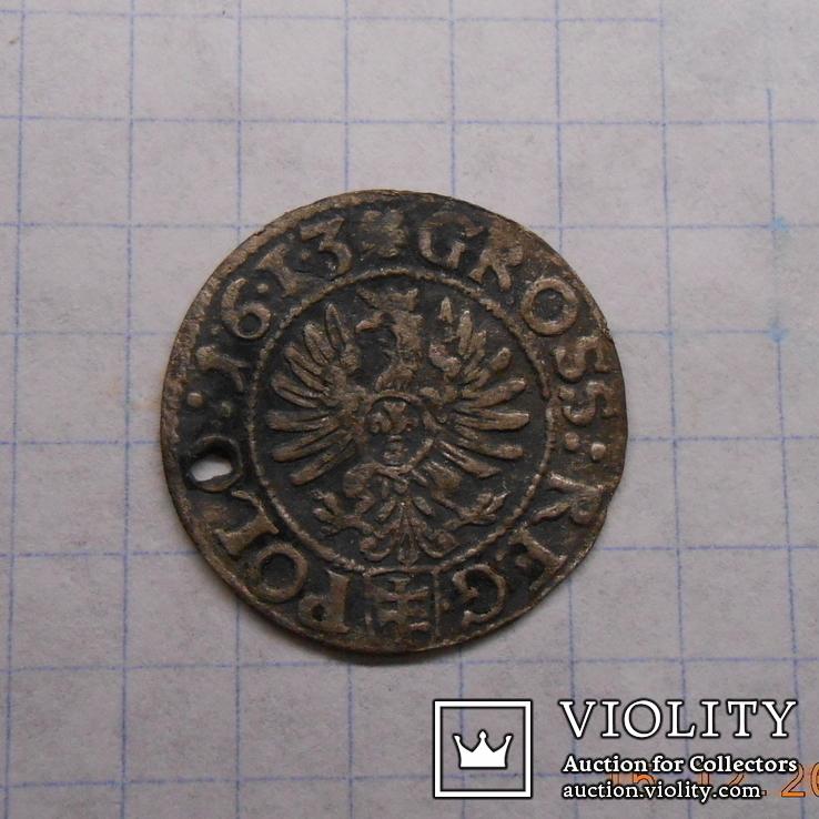 Грош коронный 1613, фото №2