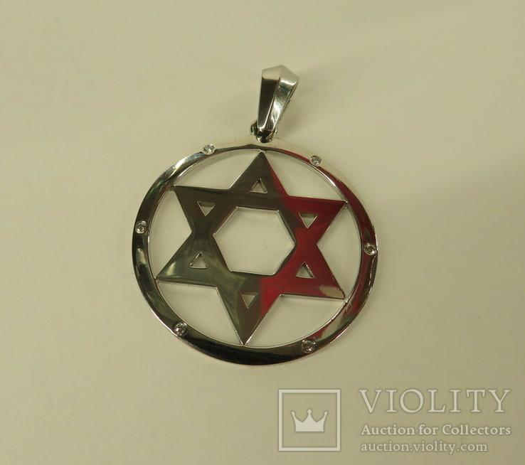 Маген Давид Звезда Щит Давида золото бриллианты, фото №3