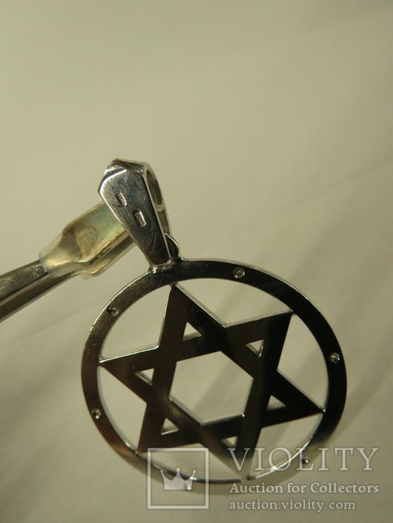 Маген Давид Звезда Щит Давида золото бриллианты, фото №6