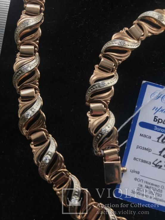 Колье и браслет , золото, фото №5