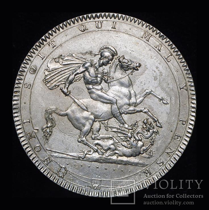 Великобритания крона 1818  серебро, фото №3