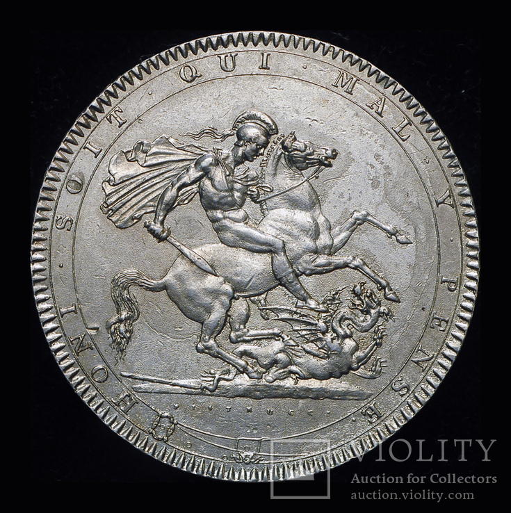 Великобритания крона 1818  серебро, фото №4