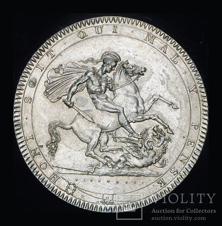 Великобритания крона 1818  серебро, фото №6