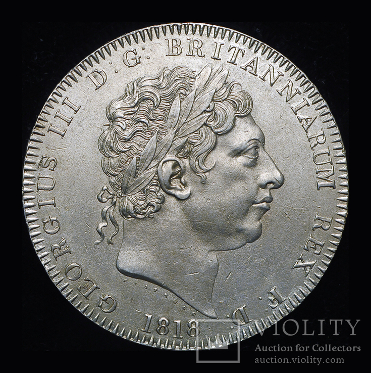 Великобритания крона 1818  серебро, фото №7