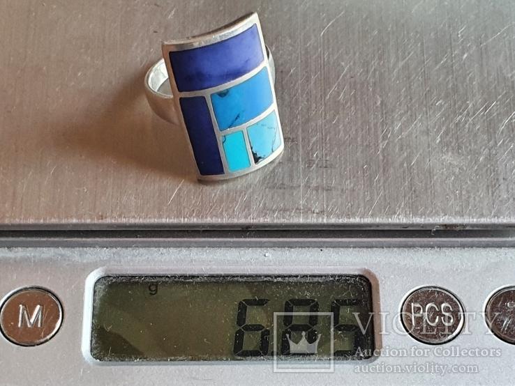 Кольцо. Серебро 925. Эмаль. Размер 18, фото №9