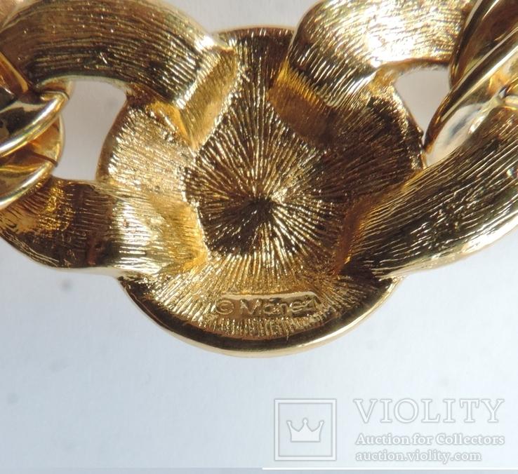 Колье-чокер с  жемчужным кабошоном от MONET. США. 60-е гг., фото №7
