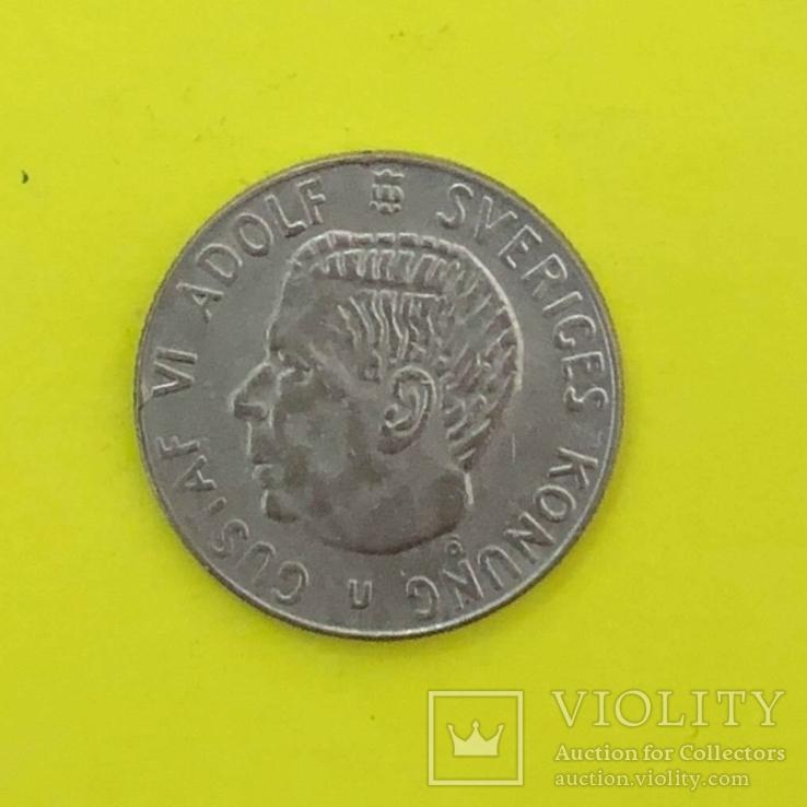 Швеція 1 крона, 1968р. Срібло., фото №2