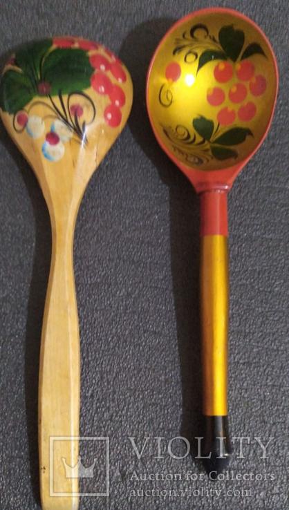 2 деревянные ложки, фото №2