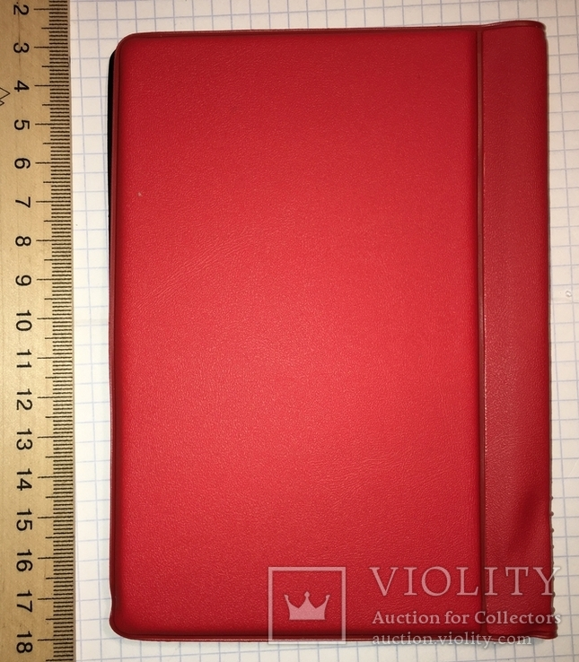 Альбом для монет, 120 ячеек 3x3см (10 страниц) / красный, фото №4